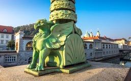 Romantic Ljubljana city center Royalty Free Stock Photos