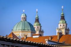 Romantic Ljubljana city center Royalty Free Stock Image