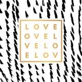 Romantic logo in frame Royalty Free Stock Photos
