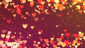 Romantic looping animation of hearts in warm colors. Romantic looping animation background of hearts in warm colors stock video footage
