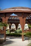 Romantic lounge gazebo at tropical resort Royalty Free Stock Images