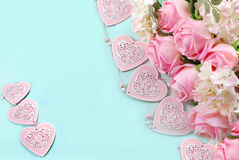 Romantic love background in pastel colors Stock Photo