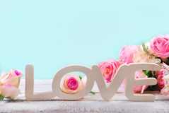 Romantic love background in pastel colors Royalty Free Stock Photo