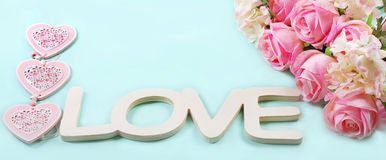 Romantic love background in pastel colors Royalty Free Stock Photography