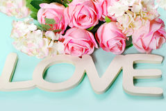 Romantic love background in pastel colors Stock Image