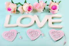 Romantic love background in pastel colors Royalty Free Stock Images