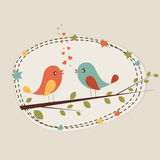 Romantic love bird for Valentine's Day celebration. Stock Images