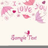 Romantic love card. Abstract background Stock Image