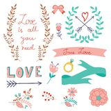 Romantic love collection Royalty Free Stock Image