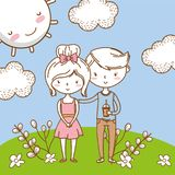 Romantic love couple cute background stock photos