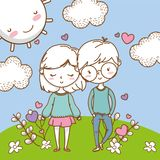 Romantic love couple cute background royalty free stock images