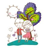 Romantic love couple cute background stock image