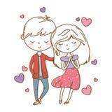 Romantic love couple cute stock illustration