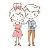 Romantic love couple cute royalty free illustration