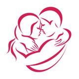 Romantic love couple icon Stock Images