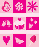 Romantic Love Elements / Symbols Royalty Free Stock Image