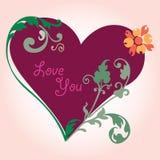 Romantic love heart Stock Image