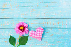Romantic love heart and flower Royalty Free Stock Photos