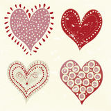Romantic love hearts with a vintage feel Royalty Free Stock Image