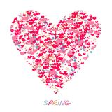 Love spring. Heart love with notes Royalty Free Stock Photos