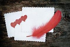 Romantic love letter Stock Image