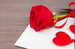 Romantic love letter Royalty Free Stock Images