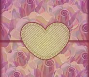 Romantic Love letter. Valentine background, EPS10 Stock Photo