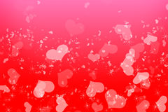Romantic love pink Valentines background. Happy Valentines Day background Design. 14 February. Pink, red soft blurred with love hearts Royalty Free Stock Image