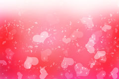 Romantic love pink Valentines background. Happy Valentines Day background Design. 14 February. Pink, red soft blurred with love hearts Royalty Free Stock Photo