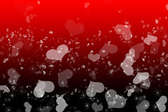 Romantic love red Valentines background. Happy Valentines Day background Design. 14 February. Pink, red soft blurred with love hearts Stock Images