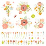 Romantic and love Summer bouquets of flowers Stock Photo