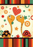 Romantic love turtle Stock Images