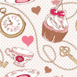 Romantic love vintage pattern Stock Image