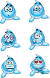 Romantic in love water drops smiles royalty free stock photos