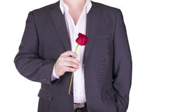 Romantic and lovely man. Royalty Free Stock Images