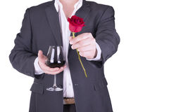 Romantic and lovely man. Stock Photos