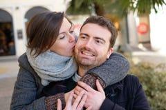 Romantic lovers couple having fun Royalty Free Stock Photography