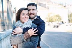 Romantic lovers couple having fun Stock Photography