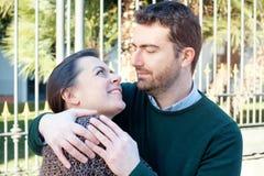 Romantic lovers couple having fun Stock Image