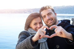 Romantic lovers couple having fun Royalty Free Stock Images