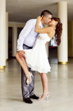 Romantic and loving fellow and girl on wedding Stock Images