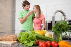 Romantic lunch Stock Photos