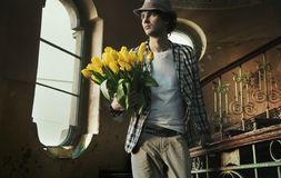 Romantic man Stock Images