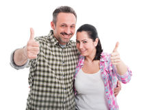 Romantic man and female laughing together Royalty Free Stock Images
