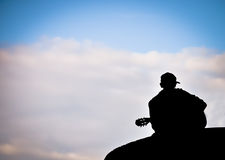 Romantic man with the guitar Royalty Free Stock Photos