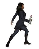 Romantic man with rose - 3 royalty free illustration