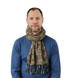Romantic man in scarf. Isolated on the white background Stock Photography
