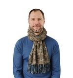 Romantic man in scarf isolated on the white. Background Royalty Free Stock Images