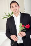 Romantic man about to propose Royalty Free Stock Photo