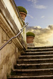 Romantic marble antique ladder Stock Photos